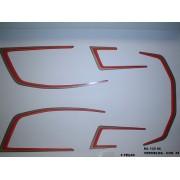 Faixa Cg 125 Ml 86 - Moto Cor Vermelha - Kit 58