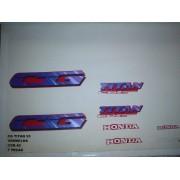 Faixa Cg 125 Titan 95 - Moto Cor Vermelha - Kit 42