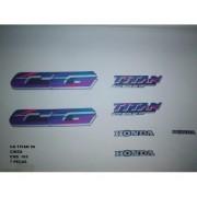 Faixa Cg 125 Titan 96 - Moto Cor Cinza (165 - Kit Adesivos)
