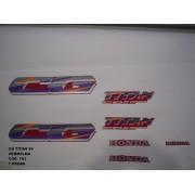 Faixa Cg 125 Titan 96 - Moto Cor Vermelha - Kit 163