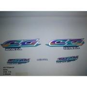 Faixa Cg 125 Titan 97 - Moto Cor Azul (178 - Kit Adesivos)