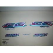 Faixa Cg 125 Titan 97 - Moto Cor Cinza (179 - Kit Adesivos)