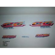 Faixa Cg 125 Titan 97 - Moto Cor Verde (177 - Kit Adesivos)