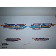 Faixa Cg 125 Titan 98 - Moto Cor Vermelha - Kit 346