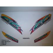Faixa Cg 125 Titan 99/00 - Moto Cor Azul Met. - Kit 398