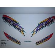 Faixa Cg 125 Titan 99/00 - Moto Cor Verde - Kit 396