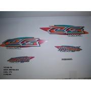 Faixa Cg 125 Titan 99 - Moto Cor Azul Met. Kit 376
