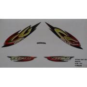 Faixa Cg 125 Titan Es 01 - Moto Cor Prata - Kit 435