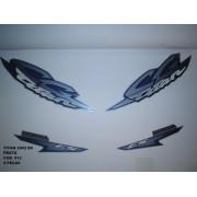Faixa Cg 125 Titan Es 02 - Moto Cor Prata - Kit 512