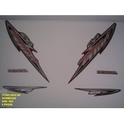 Faixa Cg 125 Titan Es 04 - Moto Cor Vermelha - Kit 593