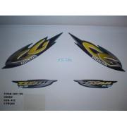 Faixa Cg 125 Titan Ks 01 - Moto Cor Verde - Kit 432