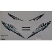 Faixa Cg 125 Titan Ks 03 - Moto Cor Prata - Kit 531