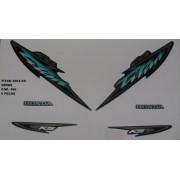 Faixa Cg 125 Titan Ks 04 - Moto Cor Verde - Kit 586