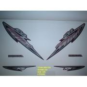 Faixa Cg 125 Titan Ks 04 - Moto Cor Vermelha - Kit 585