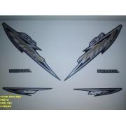 Faixa Cg 125 Titan Kse 04 - Moto Cor Preta - Kit 592