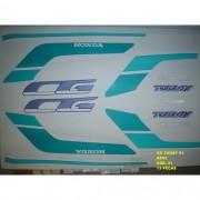 Faixa Cg 125 Today 91 - Moto Cor Azul (31 - Kit Adesivos)