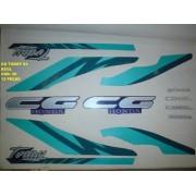 Faixa Cg 125 Today 94 - Moto Cor Azul (40 - Kit Adesivos)