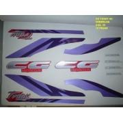Faixa Cg 125 Today 94 - Moto Cor Vermelha - Kit 39