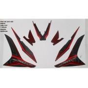 Faixa Cg 150 Fan Esi Esp 13 - Moto Cor Preta - Kit 1107