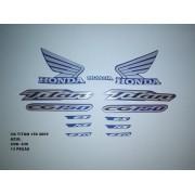 Faixa Cg 150 Titan 05 - Moto Cor Azul (636 - Kit Adesivos)