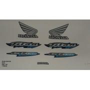 Faixa Cg 150 Titan Es 06 - Moto Cor Azul - Kit 706