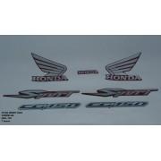 Faixa Cg 150 Titan Sport 08 - Moto Cor Verm - Kit 799