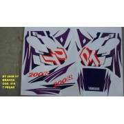 Faixa Dt 200r 97 - Moto Cor Branca (418 - Kit Adesivos)