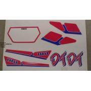 Faixa Dtz 180 91 - Moto Cor Branca/vermelha - Kit 225