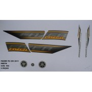 Faixa Fazer 250 11 - Moto Cor Preta (966 - Kit Adesivos)