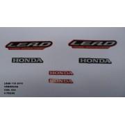 Faixa Lead 110 10 - Moto Cor Vermelha (924 - Kit Adesivos)
