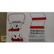 Faixa Nx 150 89 - Moto Cor Azul (155 - Kit Adesivos)