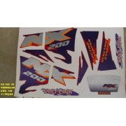 Faixa Nx 200 95 - Moto Cor Vermelha (149 - Kit Adesivos)