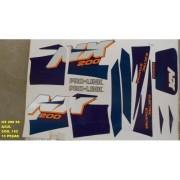 Faixa Nx 200 96 - Moto Cor Azul (152 - Kit Adesivos)