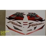 Faixa Nx 400 Falcon 01 - Moto Cor Vermelha - Kit 480