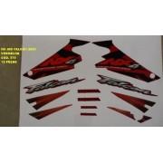 Faixa Nx 400 Falcon 03 - Moto Cor Vermelha - Kit 570