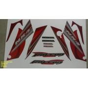Faixa Nx 400 Falcon 08 - Moto Cor Vermelha - Kit 863