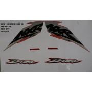 Faixa Nxr 125 Bros Es 03 - Moto Cor Vermelha - Kit 577