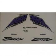 Faixa Nxr 125 Bros Es 04 - Moto Cor Azul -kit 621