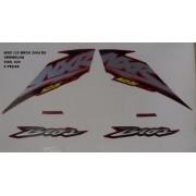 Faixa Nxr 125 Bros Es 04 - Moto Cor Vermelha - Kit 620