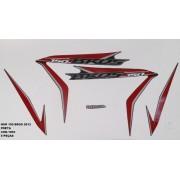 Faixa Nxr 150 Bros 13 - Moto Cor Preta (1093 - Kit Adesivos)