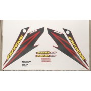 Faixa Nxr 150 Bros Es 07 - Moto Cor Vermelha - Kit 774