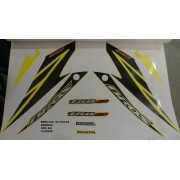Faixa Nxr 150 Bros Es 08 - Moto Cor Amarela - Kit 828