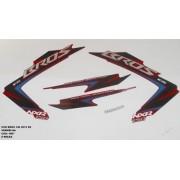 Faixa Nxr 150 Bros Es 12 - Moto Cor Vermelha - Kit 1067