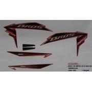 Faixa Nxr 150 Bros Es Mix 10 - Moto Cor Verm - Kit 898