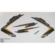 Faixa Nxr 150 Bros Esd 12 - Moto Cor Preta - Kit 1071