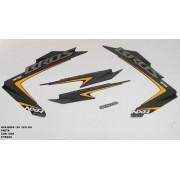 Faixa Nxr 150 Bros Ks 12 - Moto Cor Preta - Kit 1065