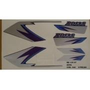 Faixa Rd 135 97 - Moto Cor Azul (344 - Kit Adesivos)