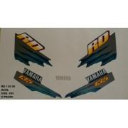 Faixa Rd 135 99 - Moto Cor Azul (393 - Kit Adesivos)