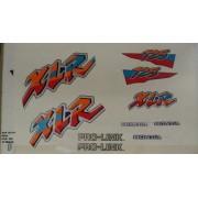 Faixa Xlr 125 97 - Moto Cor Azul - Kit 200