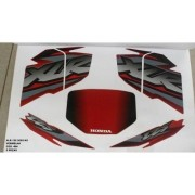Faixa Xlr 125 Ks 02 - Moto Cor Vermelha (484 - Kit Adesivos)